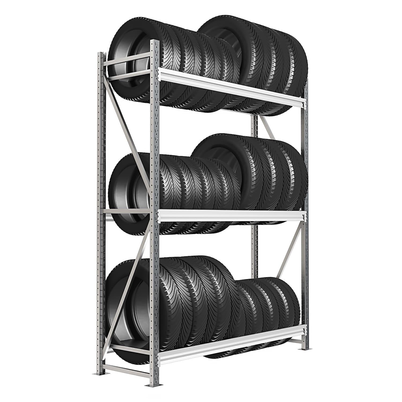Стеллаж 3 яруса до 600 кг 2500х1200х500 мм