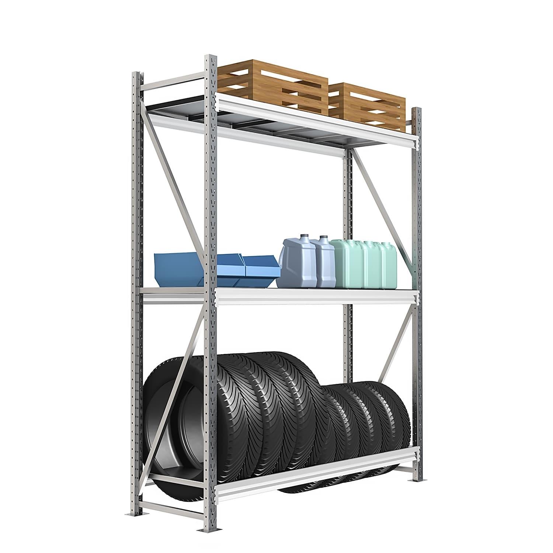 Стеллаж 4 яруса до 300 кг 2500х1800х1000 мм