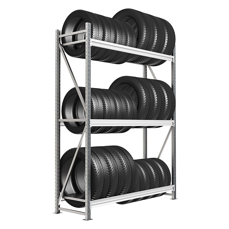Стеллаж 4 яруса до 300 кг 2500х1800х500 мм