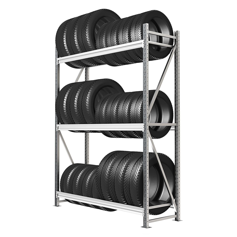 Стеллаж 4 яруса до 400 кг 2500х1500х500 мм
